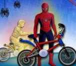 Play Spiderman BMX Race game
