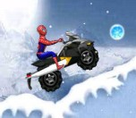 Play Spiderman Snow Scooter game